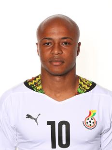 Andre Ayew, autor do gol de Gana no jogo de ontem