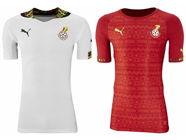 Camisa Titular e Reserva da Seleção de Gana